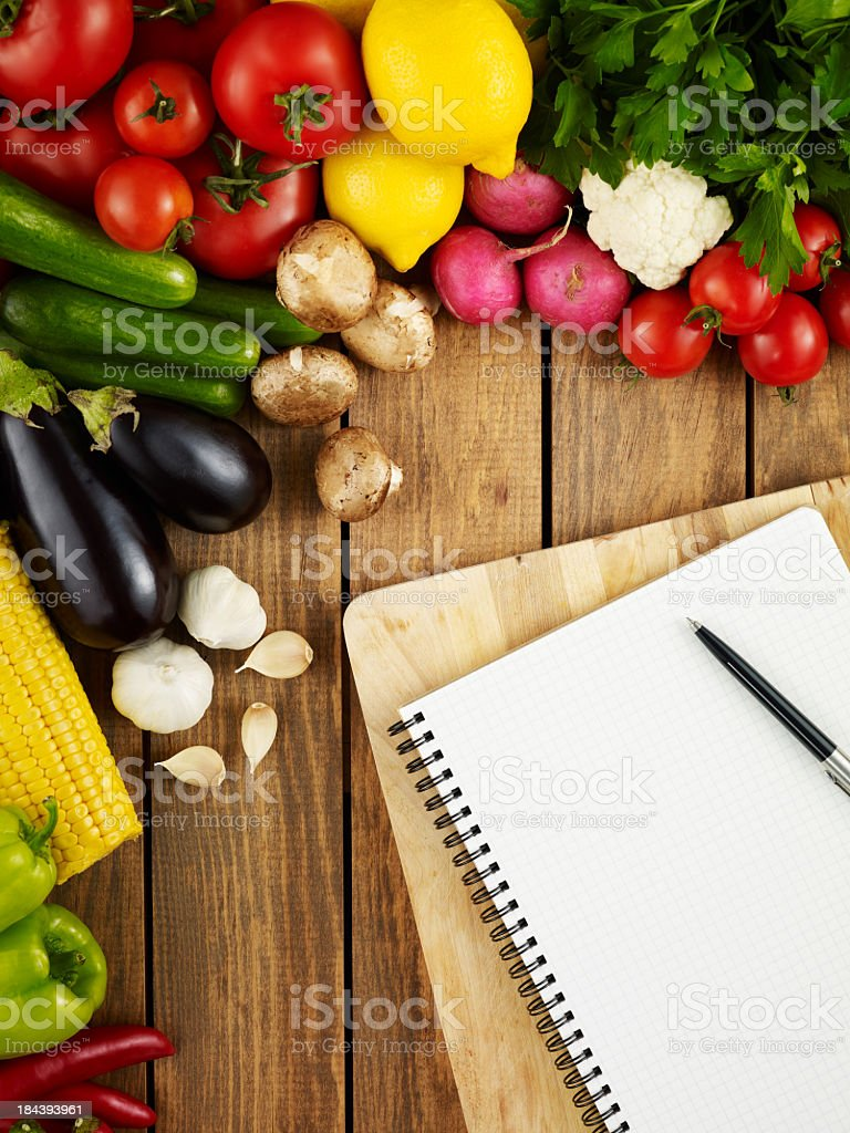 Creating a Recipe royalty-free stock photo