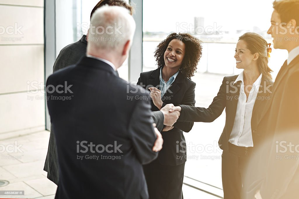 Creating a strategic alliance stock photo