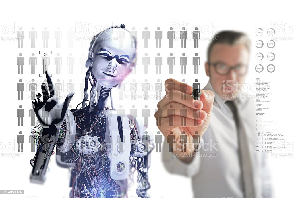 Creating Business Network in Future stock photo