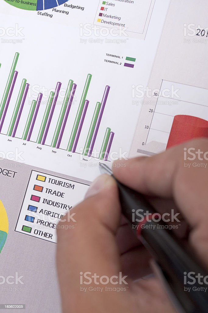 Creating Chart's royalty-free stock photo