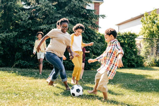 Creating childhood memories stock photo