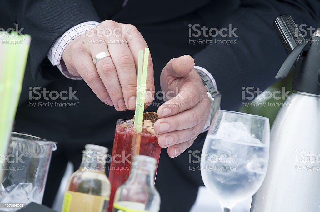 Creating Cocktails royalty-free stock photo