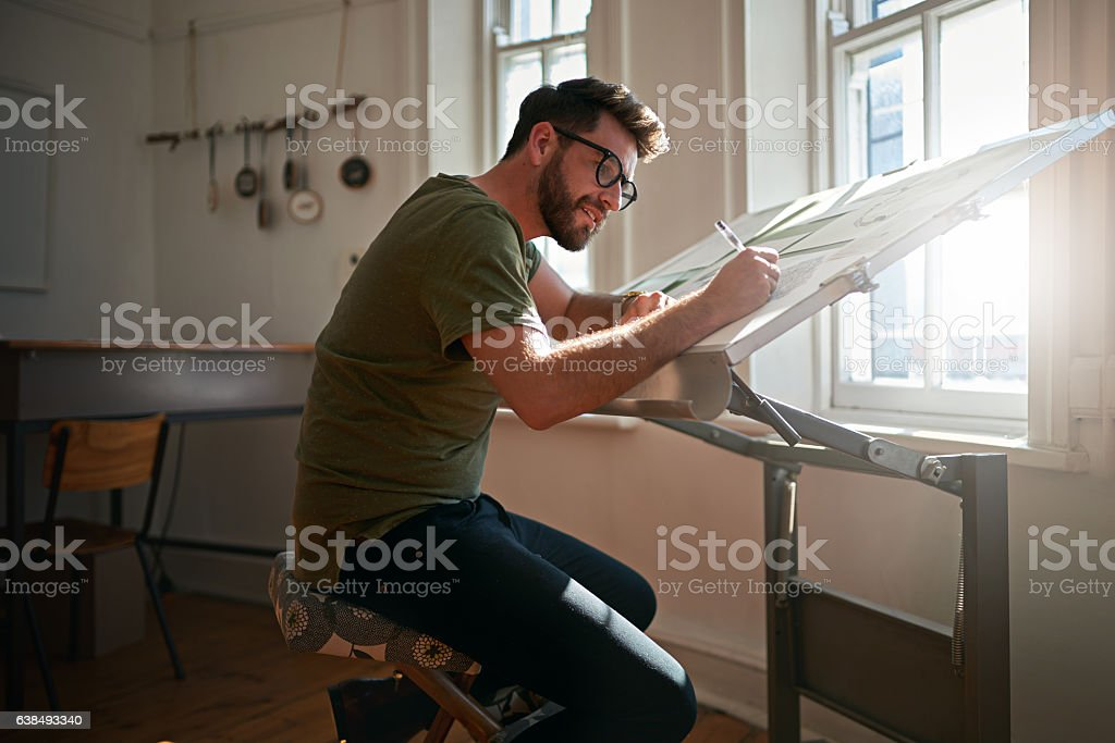 Creating eye catching designs stock photo
