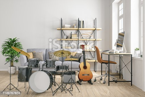 istock Creating music at home 1149767624