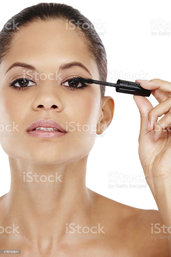 Creating perfect lashes royalty-free stock photo