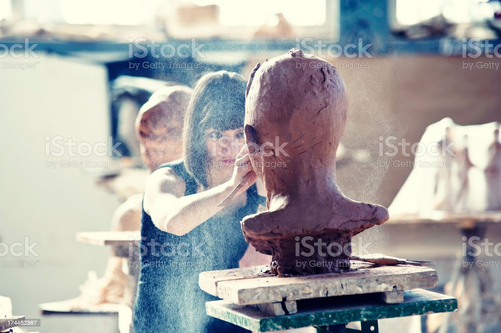 Creating Sculpture stock photo