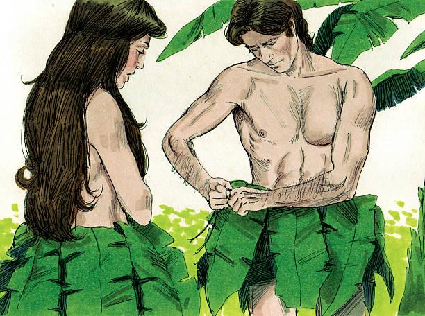 Creation Adam and Eve verbergen Armut – Foto