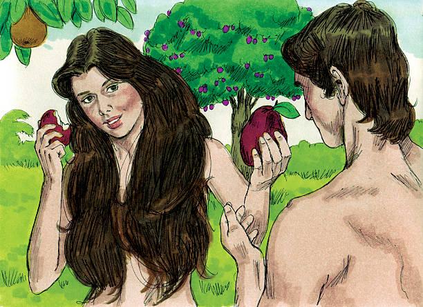 Creation-bietet einen Verbotene-Frucht auf Adam – Foto