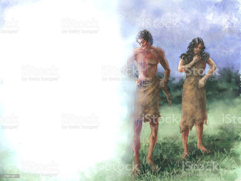 Creation God Clothes Adam and Eve stock photo