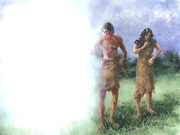 Schöpfung Gottes Kleidung Adam and Eve – Foto