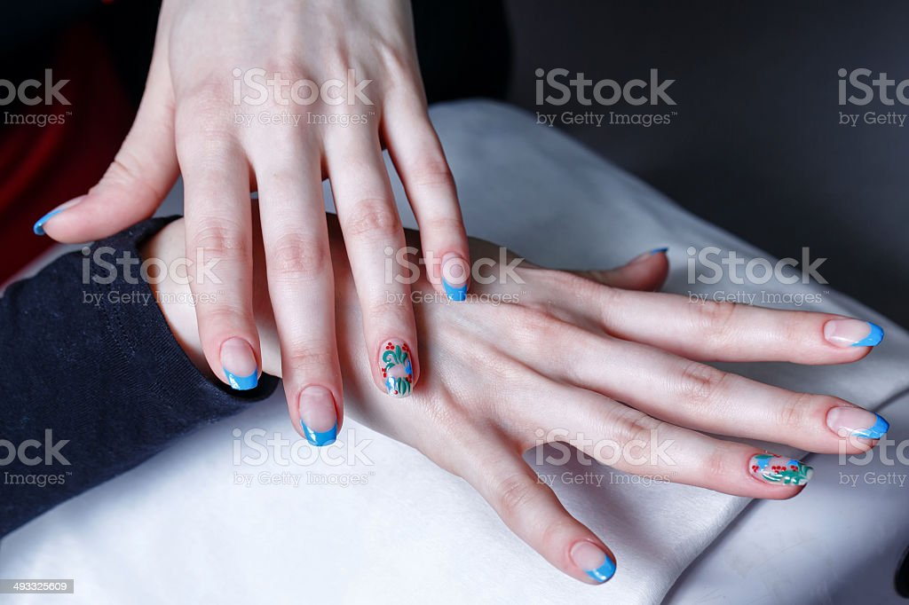 Creation manicure royalty-free stock photo