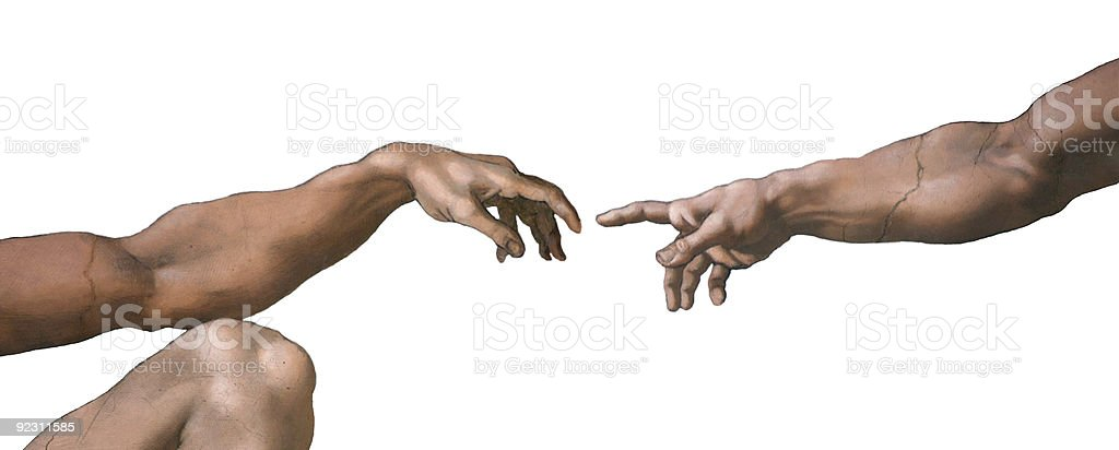 Creation of Adam stock photo
