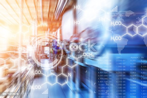 1132919452 istock photo Creative abstract chemical scientific background 997122876