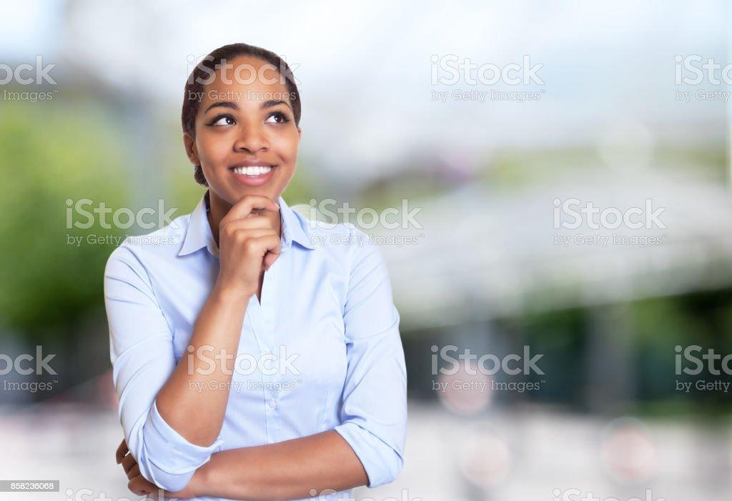 Creative african american businesswoman stock photo