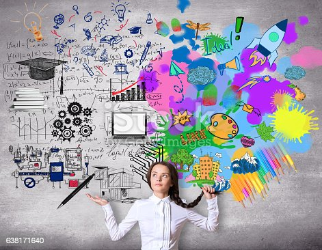 istock Creative and analytical thinking concept 638171640