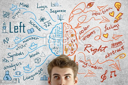 istock Creative and analytical thinking concept 672664256