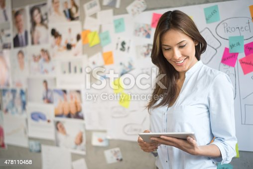 istock Creative Asian woman using a tablet 478110458