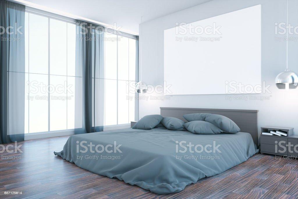 Creative bedroom interior stock photo