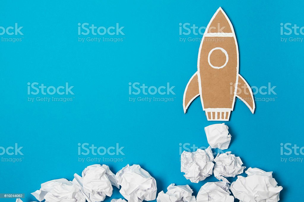 Creative boost stock photo