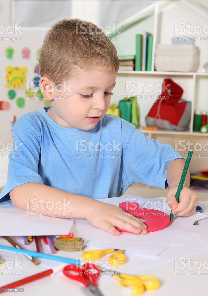 Creative boy royalty-free stock photo