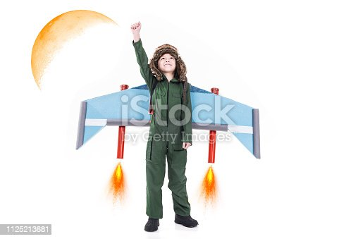 620402800istockphoto Creative boy playing 1125213681