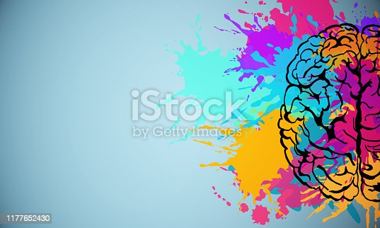 istock Creative brain drawing 1177652430