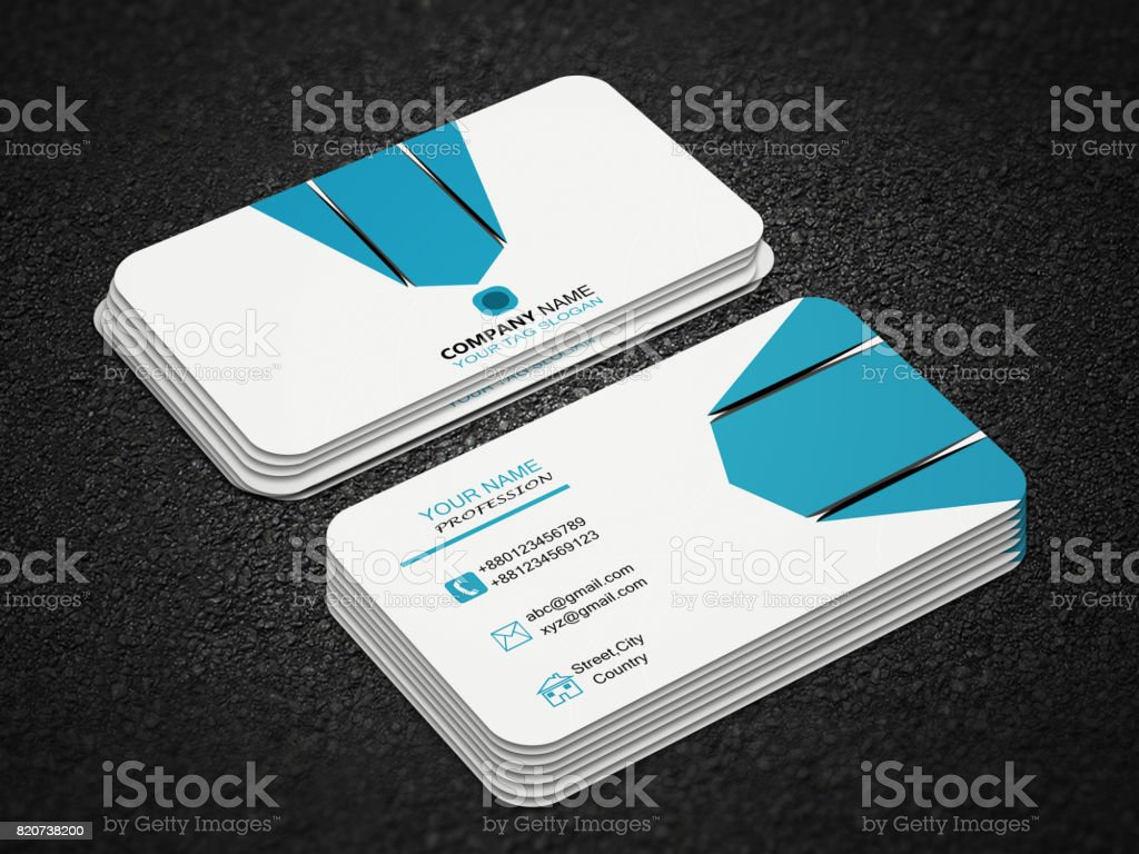 Creative Business Card Design With Mockup Stock Photo More