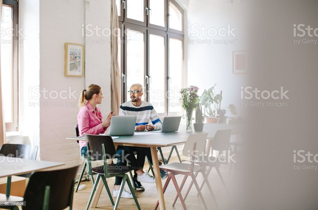 Creative business people discussing in office royalty-free stock photo