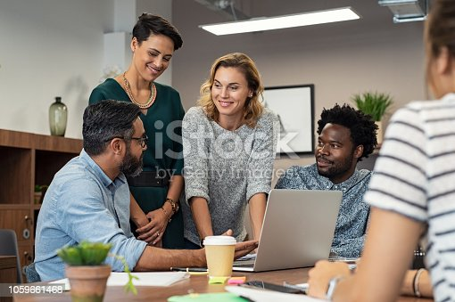 istock Creative business people working together 1059661468