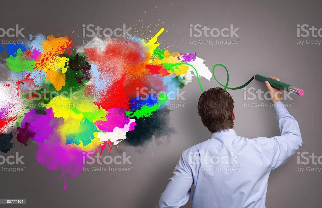 Creative business stock photo