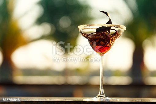 885959540istockphoto Creative chocolate dessert in the outdoor cafe 878750846
