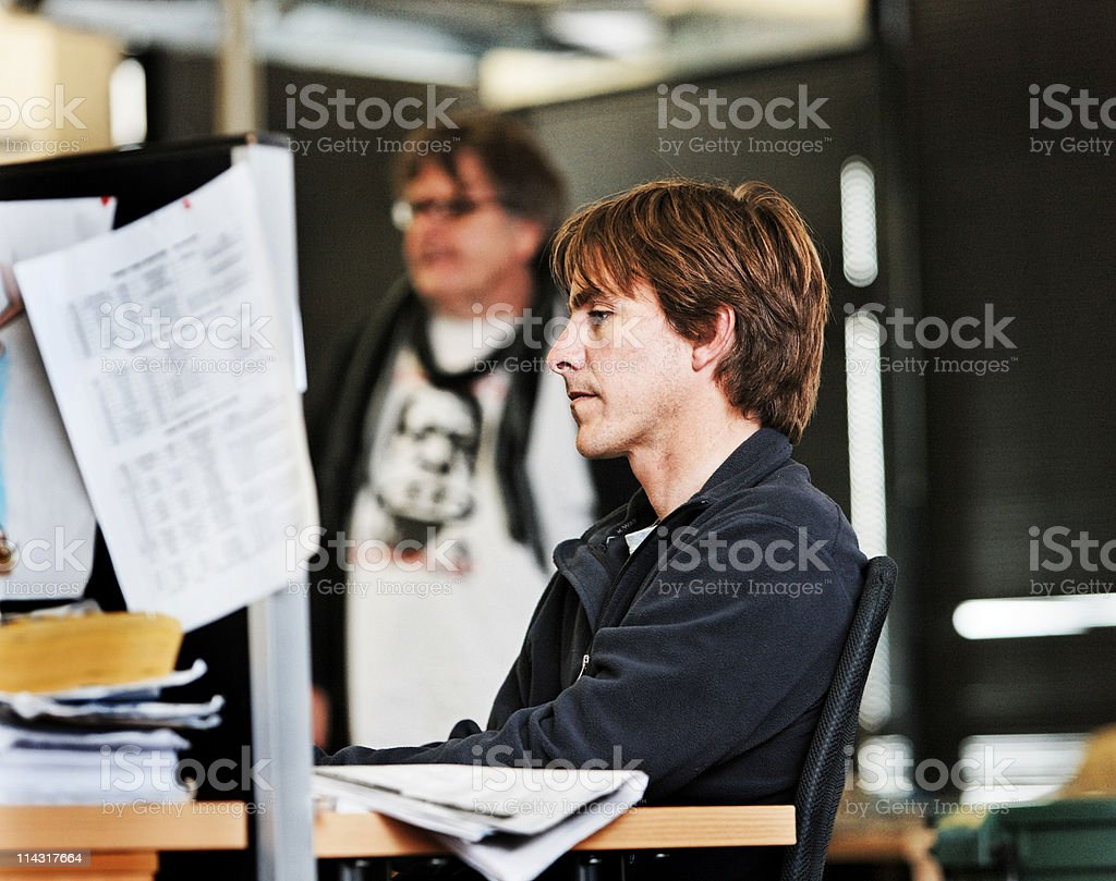 Creative colleagues royalty-free stock photo
