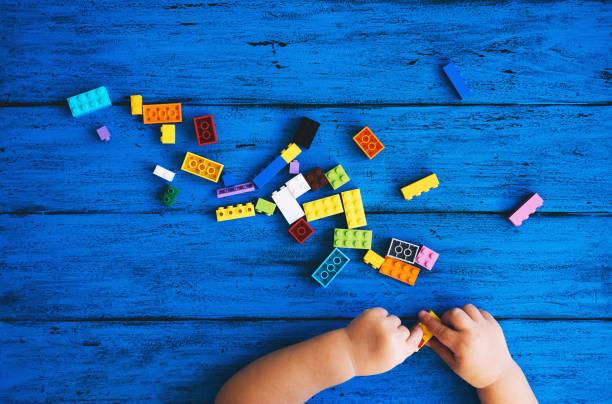Fondo creativo y colorido del niño - foto de stock