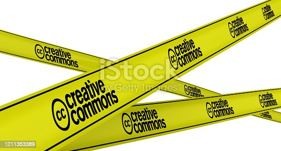istock Creative commons. Labeled yellow warning tapes 1211353389