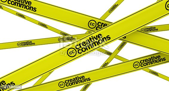 istock Creative commons. Labeled yellow warning tapes 1211353400