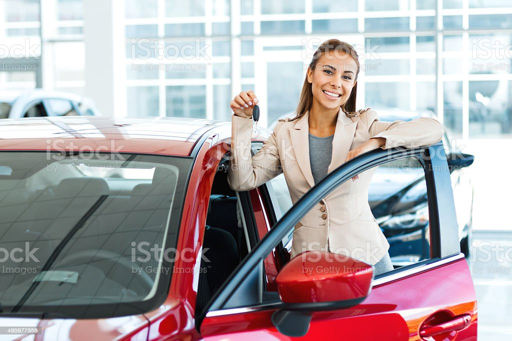 Creative concept for car rental stock photo