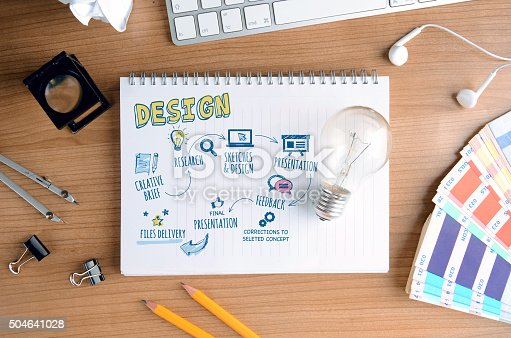 istock Creative Concept for Design Process, for Designers and Developers 504641028