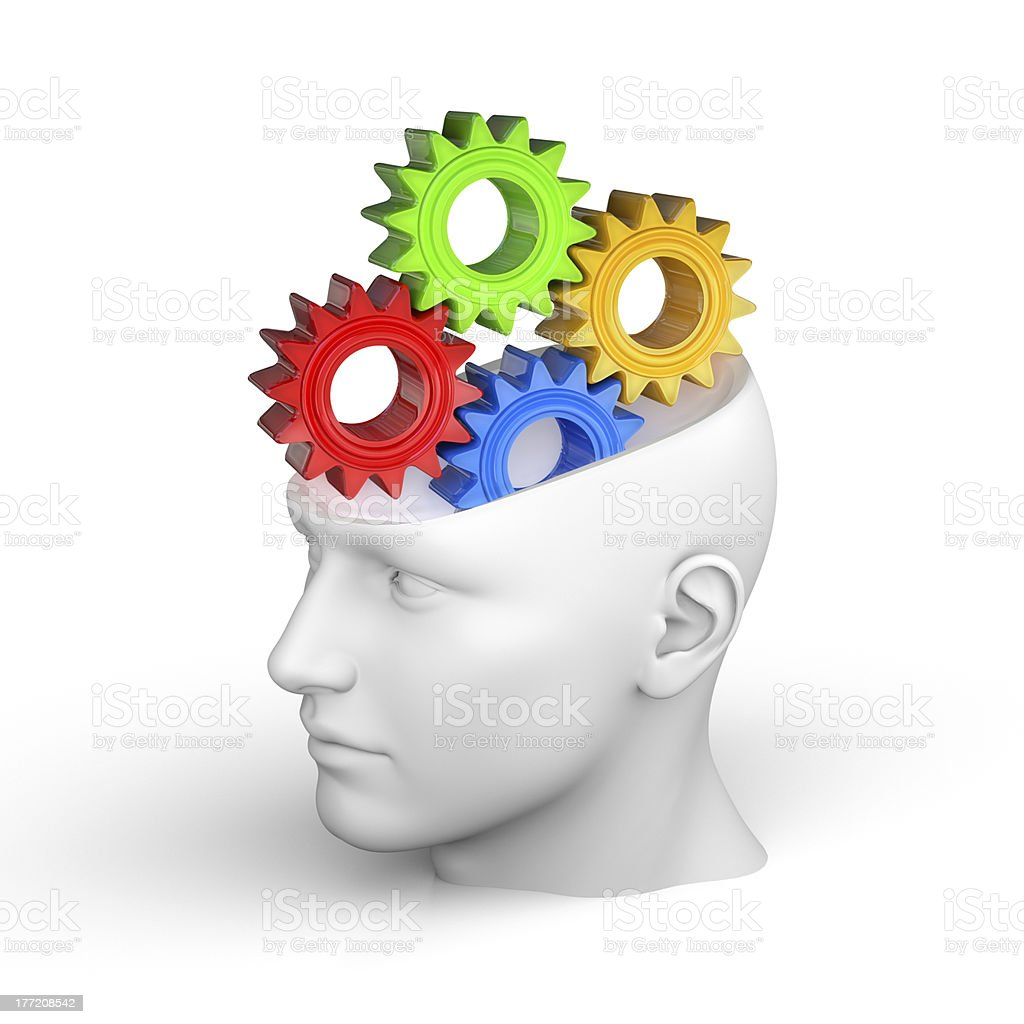 Creative concept of the human brain - Thinking royalty-free stock photo