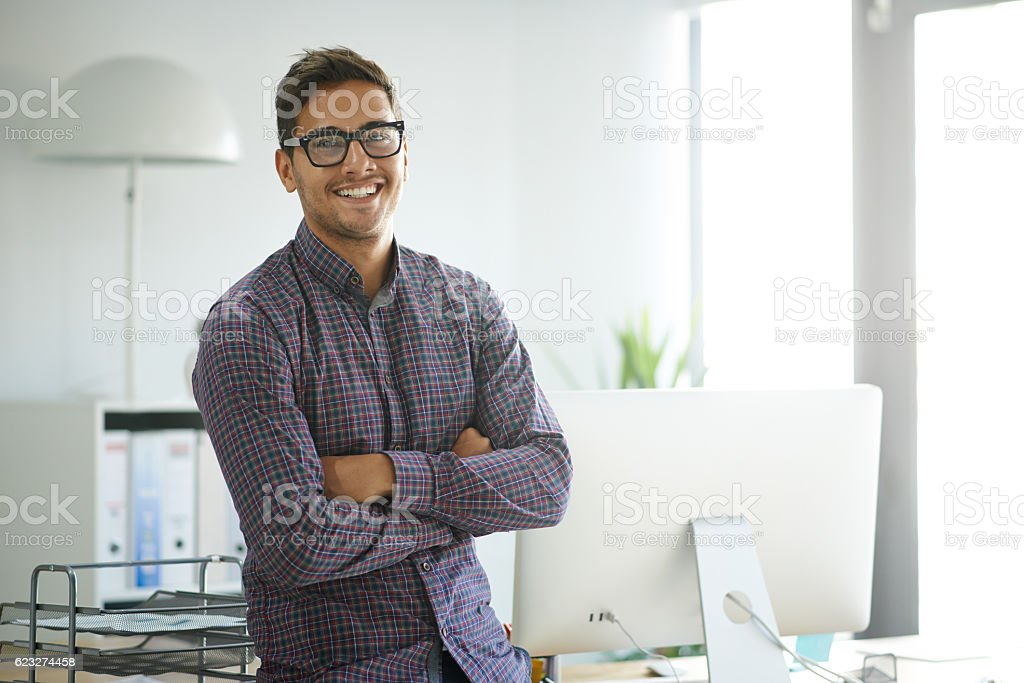 Creative confidence stock photo
