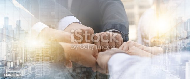 istock Creative Cooperative idea for Development, Management Business Event. 1203736462