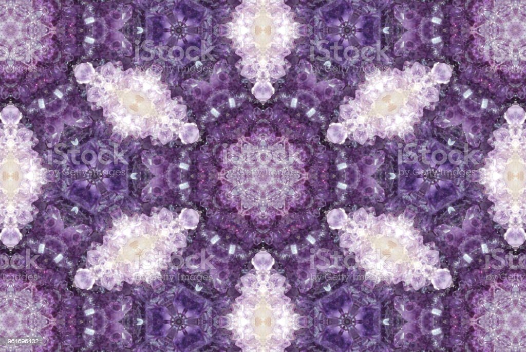 Creative Crystal Gemstone Inspired Mandala royalty-free stock photo