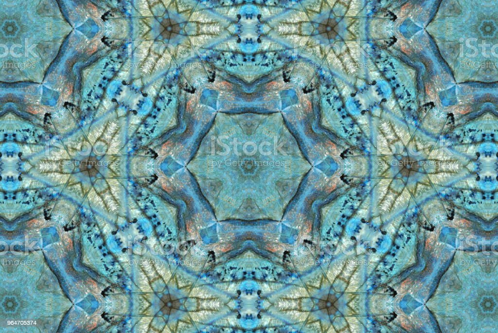 Creative Crystal Gemstone Inspired Mandala royalty-free stock photo
