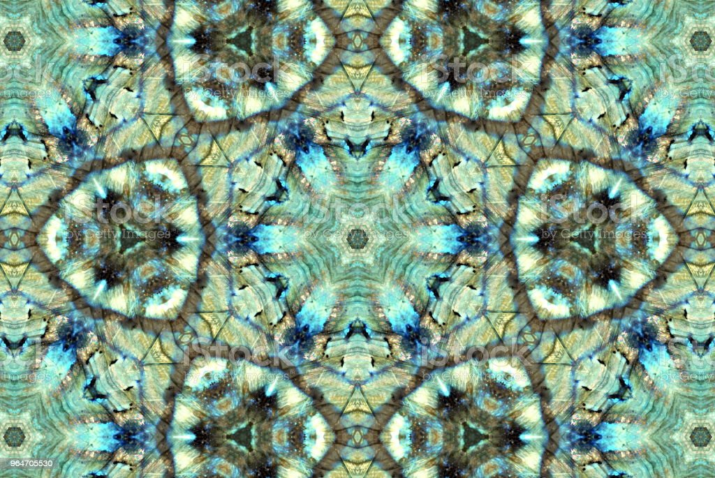 Creative Crystal Gemstone Inspired Mandala stock photo
