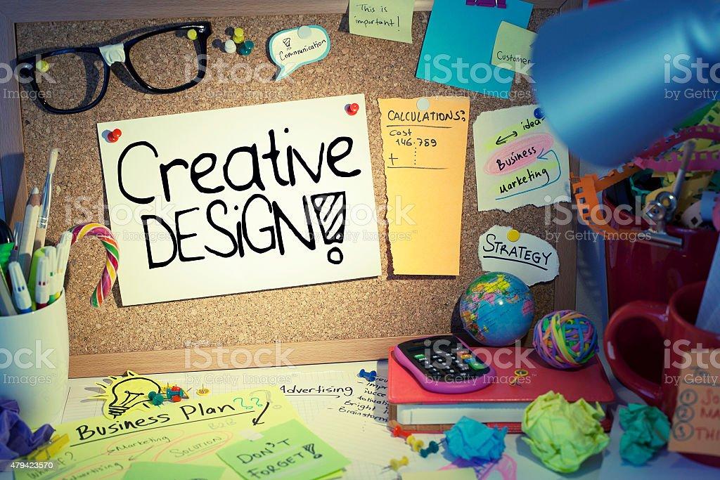 Creative Design Concept stock photo
