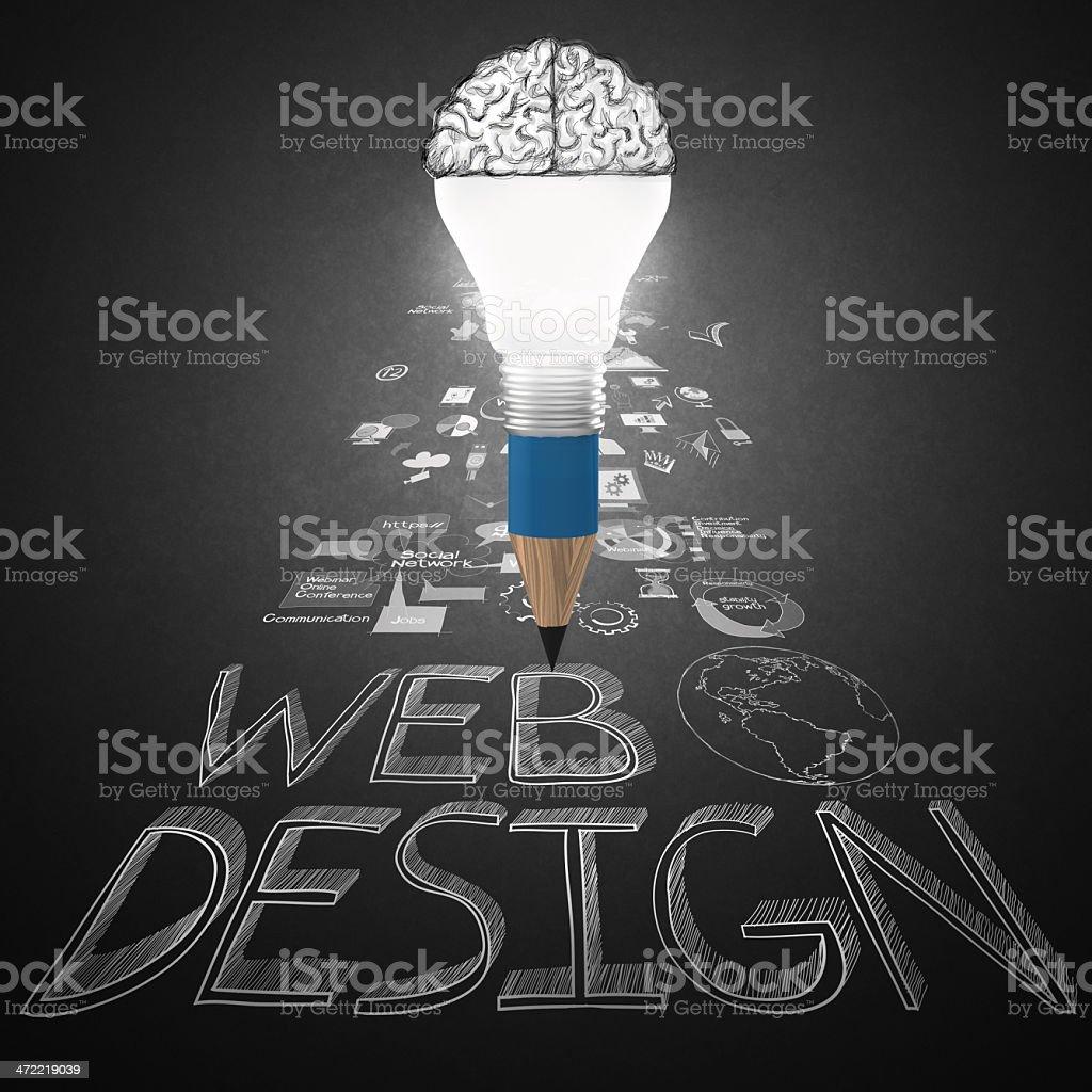 creative design hand drawn web icon stock photo