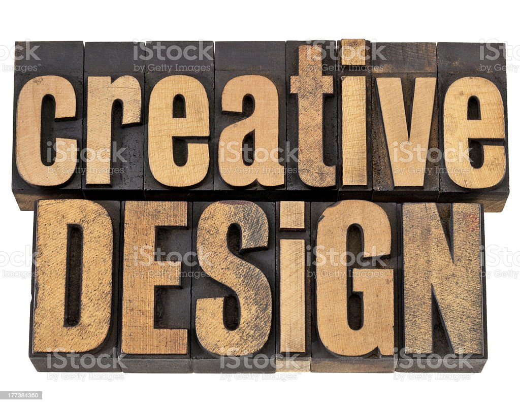 creative design in wood type royalty-free stock photo