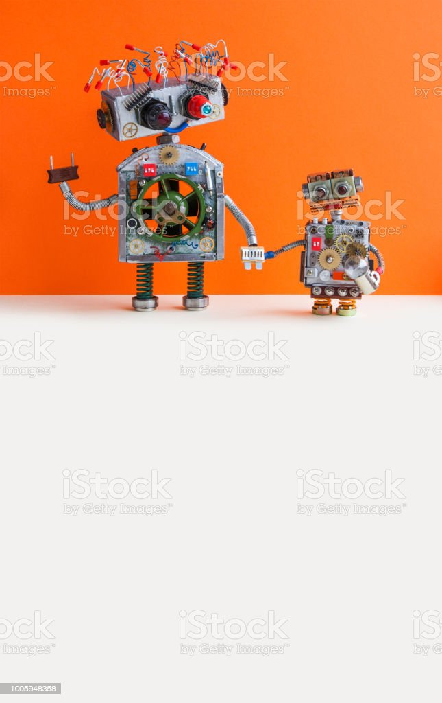 Creative Design Robotic Family Big Robot Electrical Wire Hairstyle ...