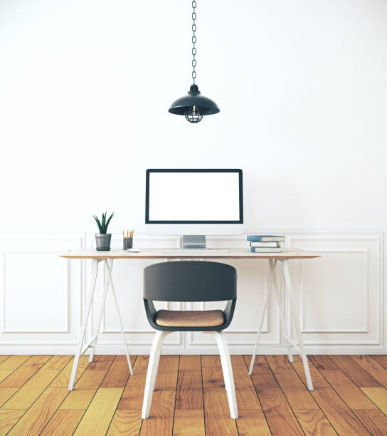 creative designer desktop stock photo