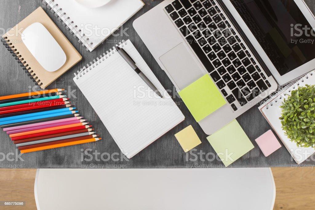 Creative desktop royalty-free stock photo