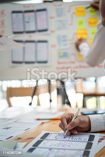 istock Creative development of programming websites for mobile applications. User experience Design concept. 1140367295